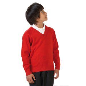 Boys Knitted V-Neck Jumper
