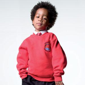 Quality V Neck School Sweatshirt